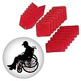 Muchkey Pegatinas reflexivas Impermeable para Bicicleta Motocicleta Rojo