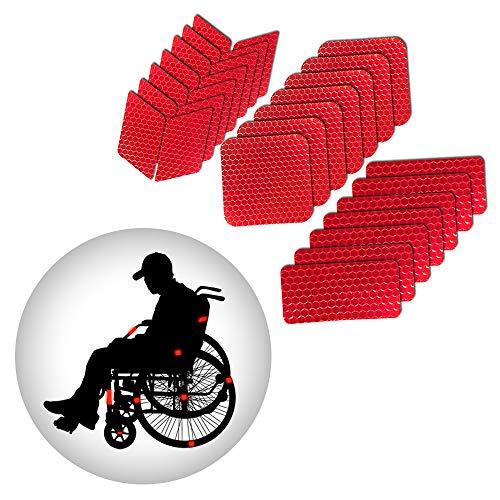 Muchkey reflektierende Aufkleber Wasserdicht Selbstklebende Leuchtaufkleber Warnschutz-Band-Aufkleber der hohen Sichtbarkeit für Roller Skates Fahrrad Motorrad Kinderwagen DIY Dekoration