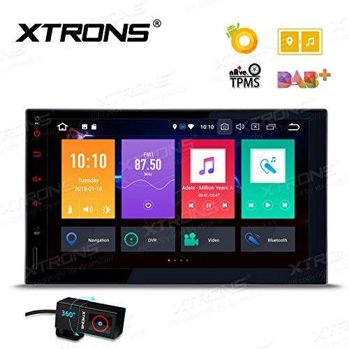 XTRONS 7 Inch Android Auto Car Stereo Radio Player Octa Core 4G RAM 32G ROM HD Digital Multi-Touch Screen Car Stereo GPS Radio OBD2 TPMS Double 2 Din with DVR