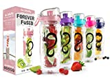 Best Flavor Fruit Infusion Pitchers - Live Infinitely 32 oz. Infuser Water Bottles Review