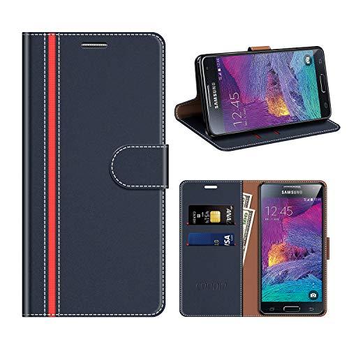 COODIO Custodia Samsung Galaxy S4 Mini, Custodia in Pelle Rugged Samsung Galaxy S4 Mini, Custodia Portafoglio Cover Porta Carte Chiusura Magnetica per Samsung Galaxy S4 Mini, Blu Scuro/Rosso