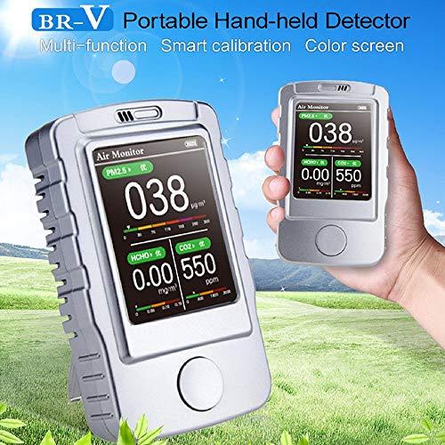 Medidor de calidad del aire/detector de aire/último detector mejorado para el detector de calidad del aire para el dehído de forma de interior (HCHO) TVOC PM2.5 PM10.