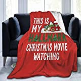 Primusone This is My Christmas Movie Watching Cozy Fleece Throw Blanket Made from Plush Flannel Throw Blanket Home Bed Sofa Wrinkle-Resistant Soft Blanket Measures 80'' X60