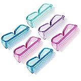Mwoot Spazzola per unghie 6 in confezione Spazzola Maniglia di Unghie per la Pulizia, Mini manico per pulizia e pulizia delle unghie