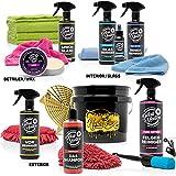 Detailmate Auto cura Set – DetailMasters – Detergente per la cura dei cerchioni, auto-shampoo, secchio per la pulizia del vetro, sigillante, pulizia interna