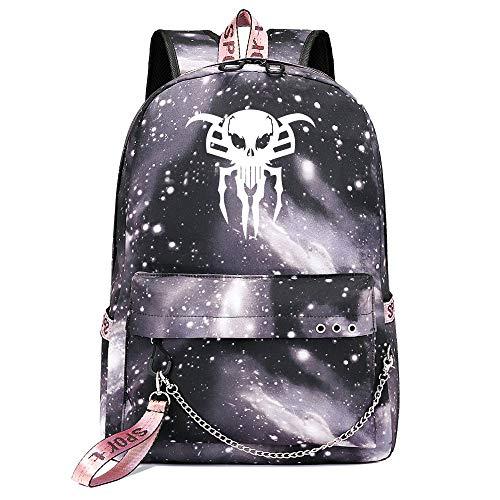 Venom Rucksack, Casual Fashion Rucksack Studententasche multifunktionaler College Student Rucksack Unisex Grey Galaxy-18