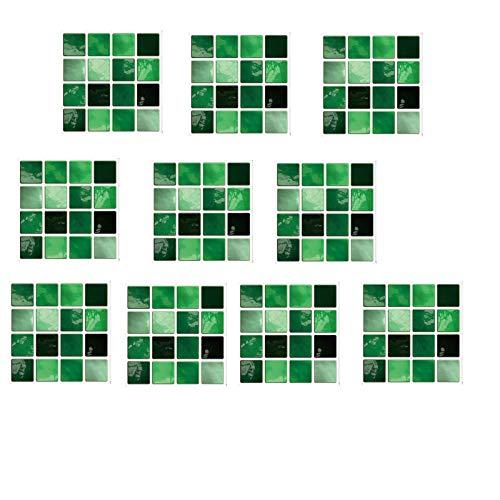 Bomoka Abrazaderas Cortinas, 10 PCS Pegatinas de Azulejos creativos de Mosaico tridimensionales, DIY Decorativo, Etiquetas engomadas Impermeables, Pegatinas de Suelo, Pegatinas de Azulejos