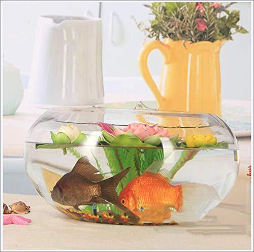 Ronde transparant glazen goudvis tank Turtle Tank Grote trommelcilinder Hydroponisch vaartuig Huishoudelijke vaas voor slaapkamer, keuken, kantoor, huiskamer