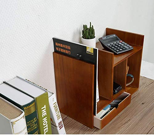 Preisvergleich Produktbild Aktenschränke SOAR Massivholz-Desktop Storage Box Multi-Layer-Fach-Art Büroregal Sundries Finishing Box File Folder Bücherregal