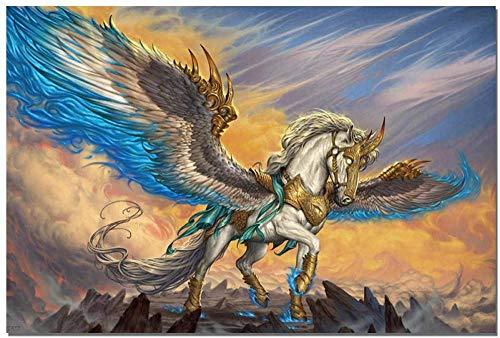 YYTTLL Rompecabezas Fantasía Pegasus Rompecabezas Arte Adultos Madera 1000 Piezas Rompecabezas Ni?os Hogar Dormitorio Bar Pared Juguetes Decorativos