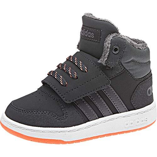 adidas Jungen Unisex Kinder Hoops Mid 2.0 Hausschuhe, Grau (Carbon/Gricin/Naalre 0), 21 EU