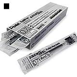 Pentel Nachfüllminen, 12 Stück, für Energel Xm, BL77/BL57/BL37, 0,7 mm, Metallmine, Schwarz