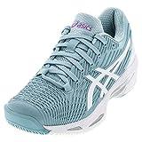 ASICS Women's Solution Speed FF 2 Tennis Shoes, 5.5M, Smoke
