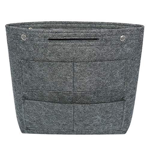 VANCORE Felt Tote Handbag Purse Pocketbook Organizer Insert Divider Shaper Bag in Bag (Dark Gray)