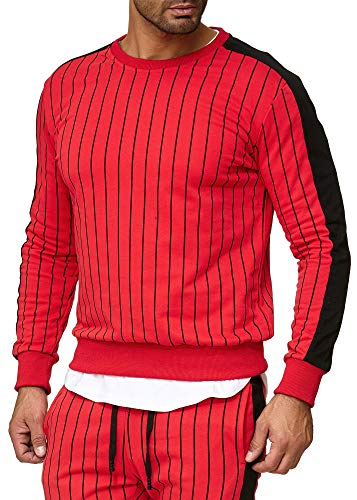 OneRedox | Herren Trainingsanzug | Jogginganzug | Sportanzug | Jogging Anzug Jogging-Anzug Modell A13 Rot M
