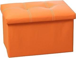 Footstool rectangular multi-function PU leather storage stool Home folding storage stool Dressing table bedside stool stoo...