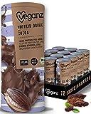 Veganz BIO Protein-Drink Cocoa - veganer fertiger Protein-Shake mit Eiweiß - cremig schokoladig - 12x 235ml