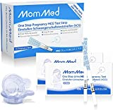 MomMed Schwangerschafts Frühtest - Hochpräziser & schneller 25mIU Schwangerschaftstest - Zuverlässiger 5 Minuten Frühschwangerschaftstest - 25 HCG Urin Teststreifen + 25 Urinbecher