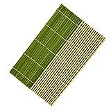 JXCAA 3 Piezas Esterilla De Bamboo para Sushi, Sushi Rolling Mat, Utensilios De Cocina Domésticos Comerciales, Cortina De Bambú Cubierta De Arroz De Algas, 24 * 24 Cm, 27 * 27 Cm, 30 * 30 Cm
