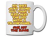 Tasse, Motiv: Trampolin, 284 ml, Weiß