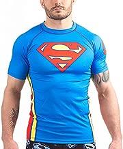 Fusion Fight Gear Superman Classic Logo Rashguard Shortsleeve (X-Large)