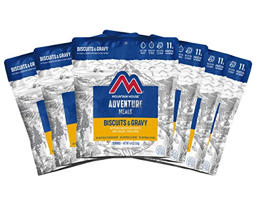 Mountain House Biscuits & Gravy | Freeze Dried Backpacking & Camping Food |6-Pack