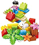 Little Builder DIY Xpress - Full 30 pcs Building Blocks Zoo Safari Plane Set with a Rabbit, Plants, and Friendly Figure - a Great Way to Help a 3+ Kid Learn About Nature & Animals