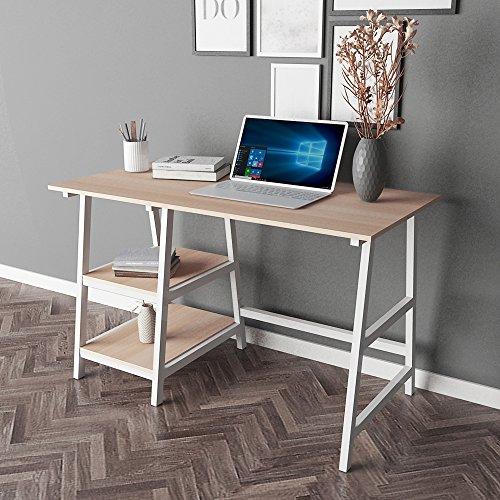 Mesa de ordenador con dos estantes de Sogesfurniture