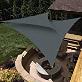 HEYOMART Triangle Anti-UV Sun Shade Sail Outdoor Patio Party Sunscreen Canopy Sunsail 2x2x2m, Grey