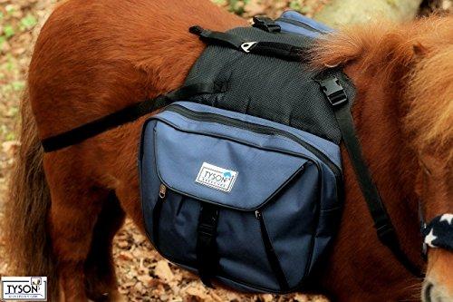 Tysons Breeches Rucksack Blau ! Trekking Satteltasche Wanderrucksack Packtaschen Minishetty Mini Shetty Blau o Schwarz Wander Packtaschen Packtasche (Blau)