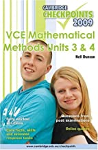 Cambridge Checkpoints VCE Mathematical Methods Units 3 and 4 2009