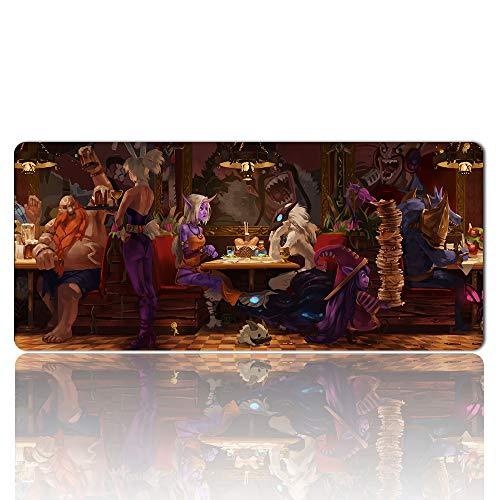 676412fr - LOL Tapis de Souris | mouse pads pour gamer XXL | Tapis de Souris Gaming Grande Taille 900 * 400 * 2mm | Tapis en Caoutchouc naturel Antidérapant et confortable | K/DA League of Legends