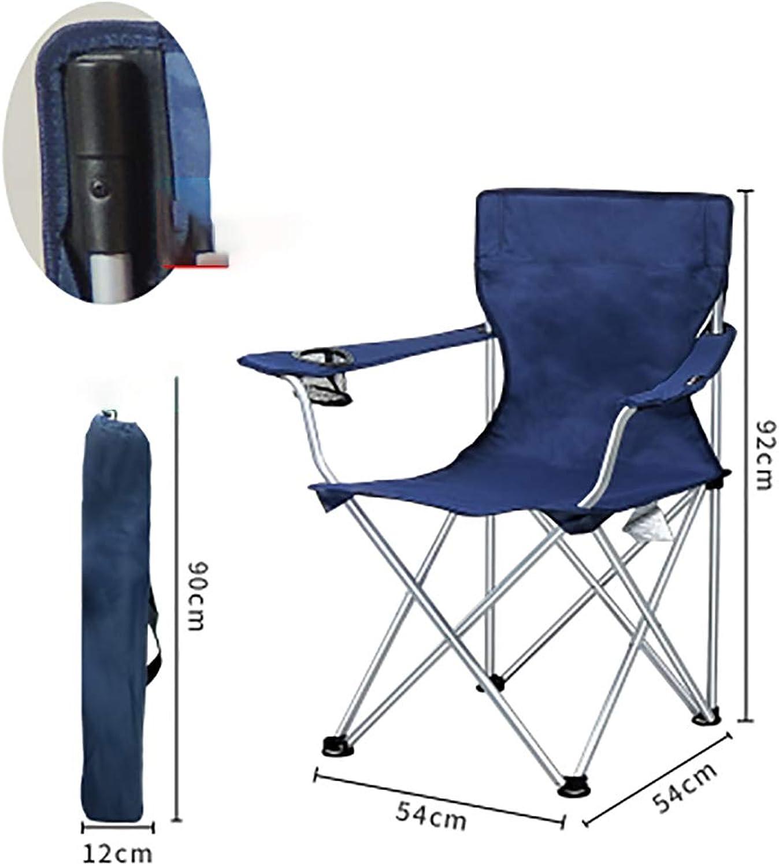 Outdoor Folding Chair Large Portable Chair Fishing Chair Picnic Barbecue Beach Armchair Back Chair Leisure Chair