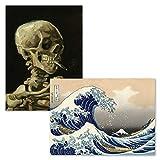 Katsushika Hokusai Poster mit Skelett von Vincent Van Gogh