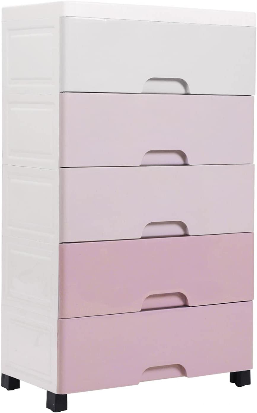 Youngnet 5-Drawer Max 75% OFF Dresser Plastic Storage T High Recommended - Tower