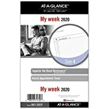 AT-A-GLANCE 2020 Weekly Planner Refill, Day Runner, 5-1/2' x 8-1/2', Desk Size 4, Loose Leaf (061-285Y)