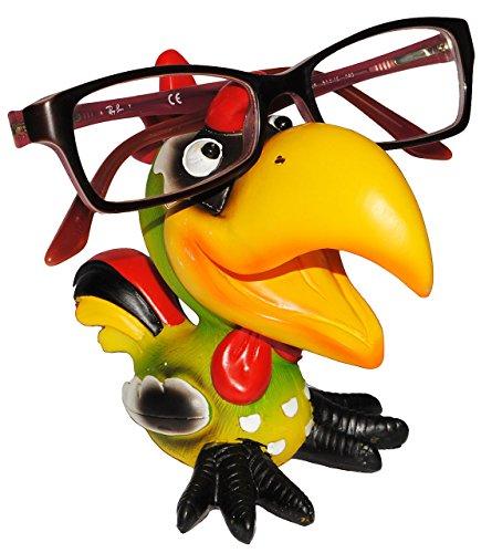 """Brillenhalter - """" verschiedene Vögel """" - stabil aus Kunstharz - Größe universal - für Kinder & Erwachsene / Brillenhalterung - lustiger Brillenständer - für Sonnenbrille Lesebrille - Brillenablage / Ente Vogel Tukan exotische Tiere"""