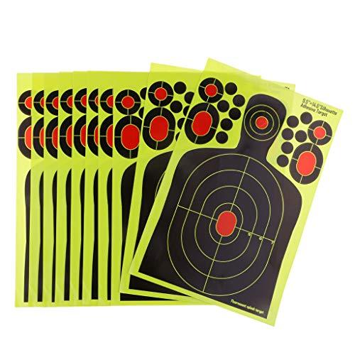 Homyl 10x Silhouette Obiettivo di Tiro, Bersaglio Carta, Bersaglio Reattivo, Bersaglio da Tiro Adesivo