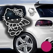 Helloy Kitty Kopf f/ür Motorhaube Aufkleber Autoaufkleber Sticker Auto` waschanlagenfest, gedruckte Montageanleitung von myrockshirt Bonus Testaufkleber Estrellina-Gl/ückstern /®