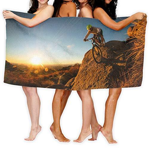 N/A Mountainbike Radfahrer Mann schnell trocknendes Handtuch Baumwolle super weiches Handtuch resistent Badetuch 80 cm x 130 cm