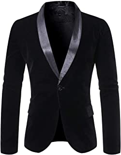 Men's Casual Blazer Jacket Slim Fit Lightweight One Button Flap Pockets Lapel Suit Stylish Jacket Sports Coat Business