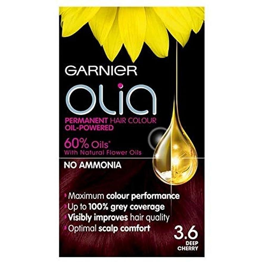 ブランク壁データベース[Garnier ] 3.6永久染毛剤深いチェリーレッドガルニエOlia - Garnier Olia Permanent Hair Dye Deep Cherry Red 3.6 [並行輸入品]