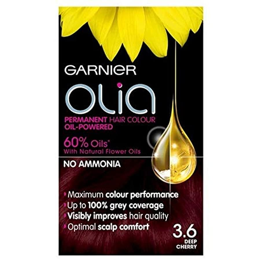 仕方最小デコードする[Garnier ] 3.6永久染毛剤深いチェリーレッドガルニエOlia - Garnier Olia Permanent Hair Dye Deep Cherry Red 3.6 [並行輸入品]