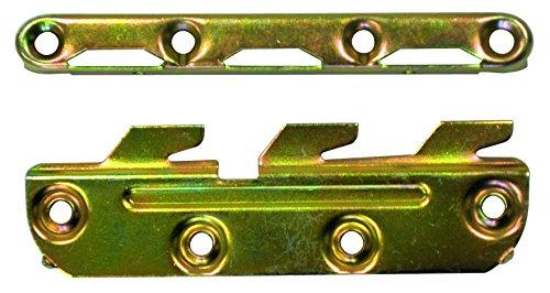 HSI 945305.0 Bettverbinder mit 3 Haken Eisen verzinkt 130mm 1 Garn/set