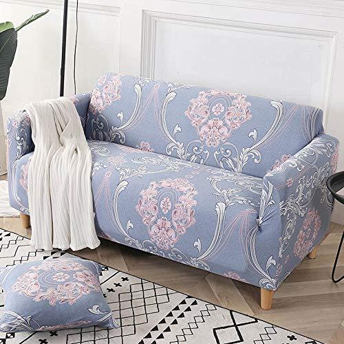 Funda de sofá de algodón Funda de sofá elástica Fundas de sofá elásticas para Sala de Estar Protector de Muebles de sofá en Forma de L Individual A17 2 plazas