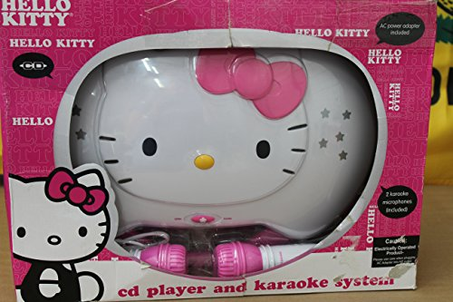 JENKT2003CA - HELLO KITTY KT2003CA Karaoke System with CD Player