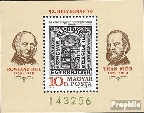 Prophila Collection Ungarn Block138A (kompl.Ausg.) 1979 Tag der Briefmarke (Briefmarken für Sammler) Marke auf Marke