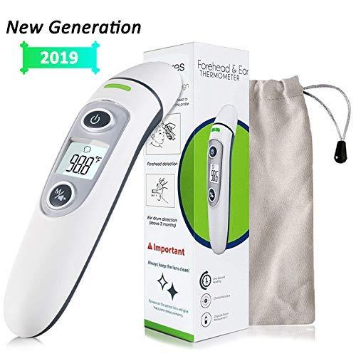 adultos white-1 Digital term/ómetro para la frente y el o/ído M/édico el aut/éntico CE y aprobado por la FDA profesional cl/ínica para beb/é