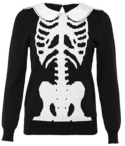 Iron Fist Strickpullover Wishbone Girly Sweater Schwarz S