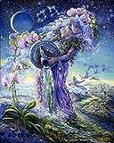 Kits de Bricolaje de Pintura de Diamante 5D, Constelación de Acuario Pintura al oleo por numeros, bordado diamond Painting de imitación, decoración de pared del hogar (40 x 50 cm)